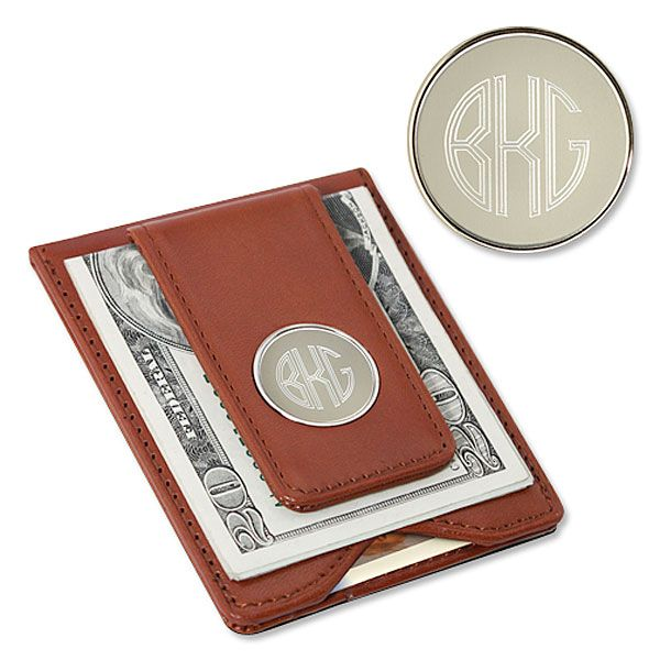 Leather Wallet & Money Clip-Brown-GC1074