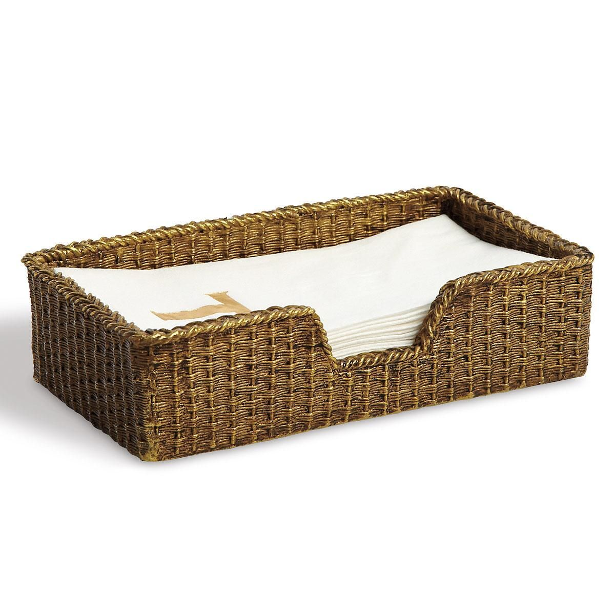 Gold Woven Towel Caddy