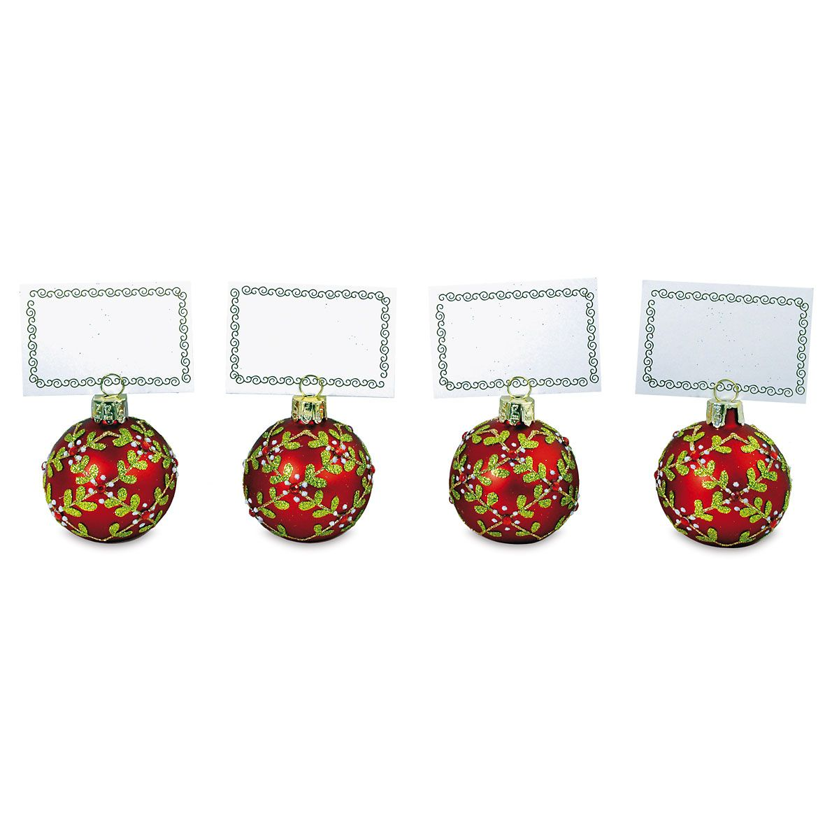 Red Berry Place Card Holders