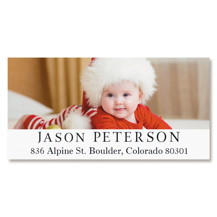 Classic Deluxe Personalized Photo Address Label