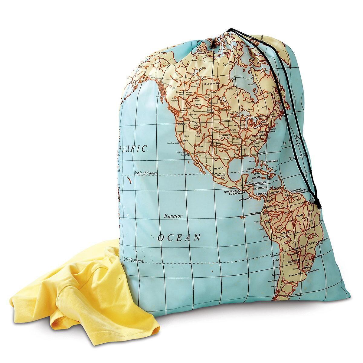 Travel Maps Laundry Bag