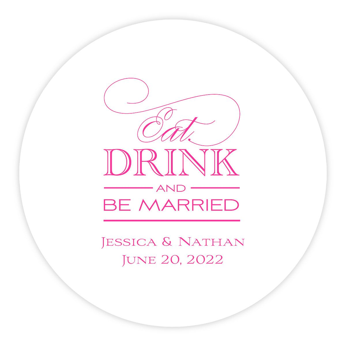Personalized Letterpress Coasters Eat Drink Be Married