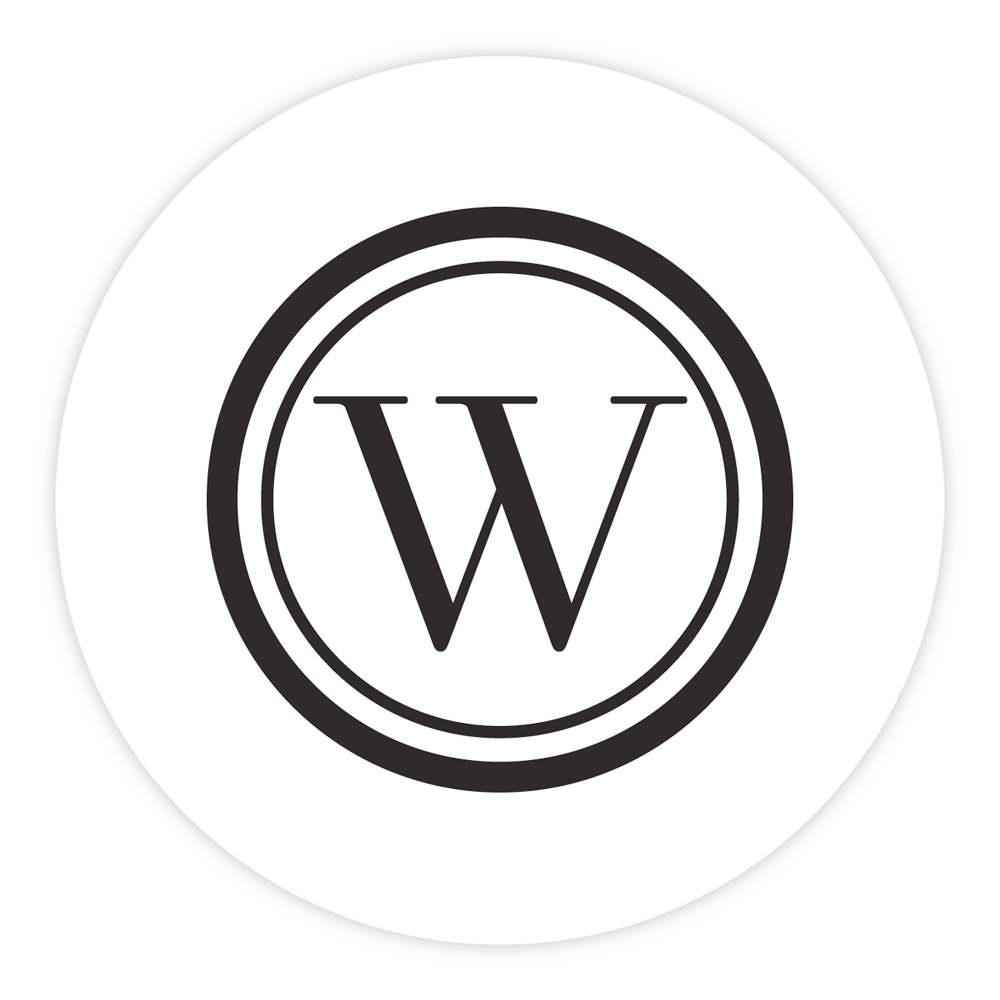 Personalized Letterpress Coasters Brooklyn Mono