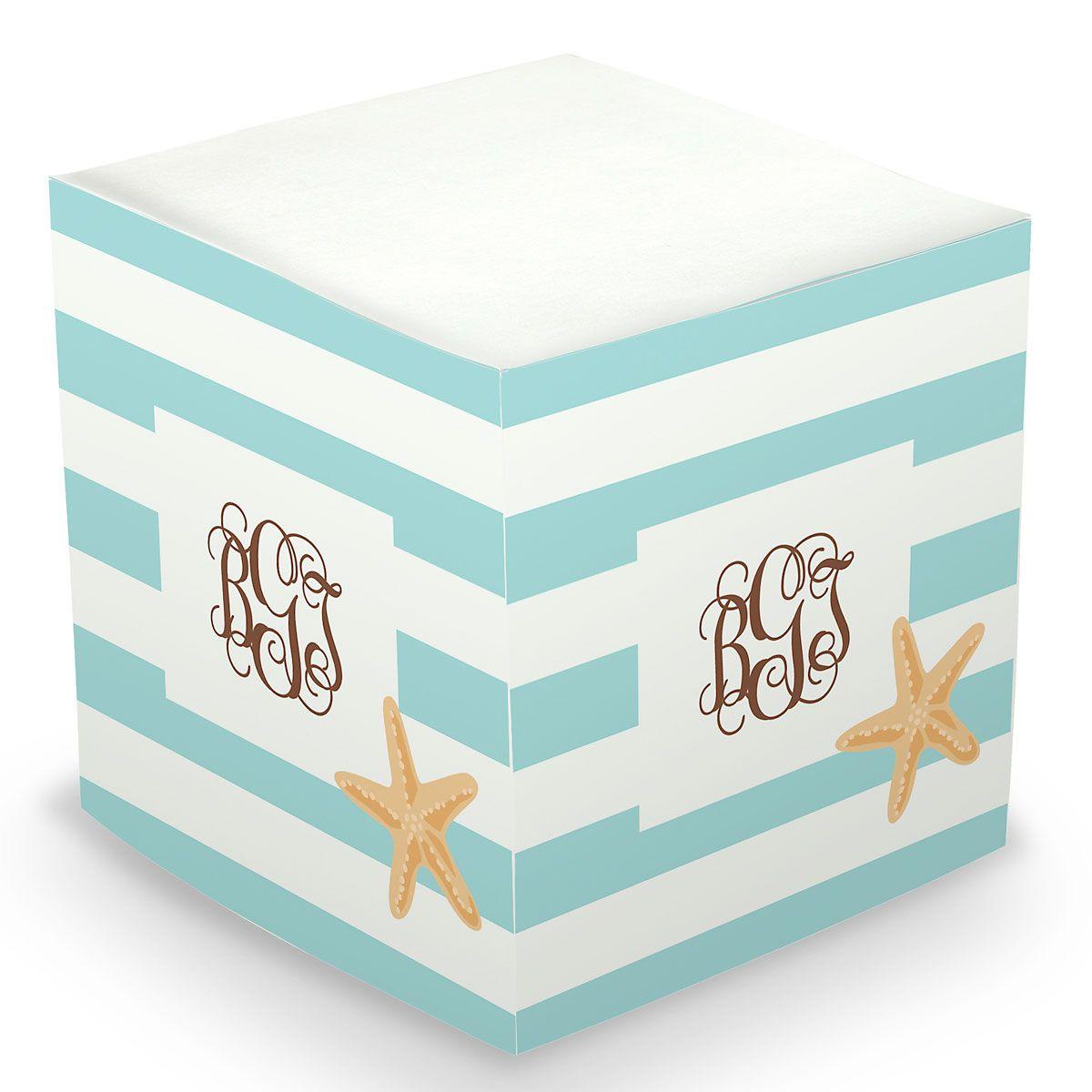 Starfish Sticky Memo Cube