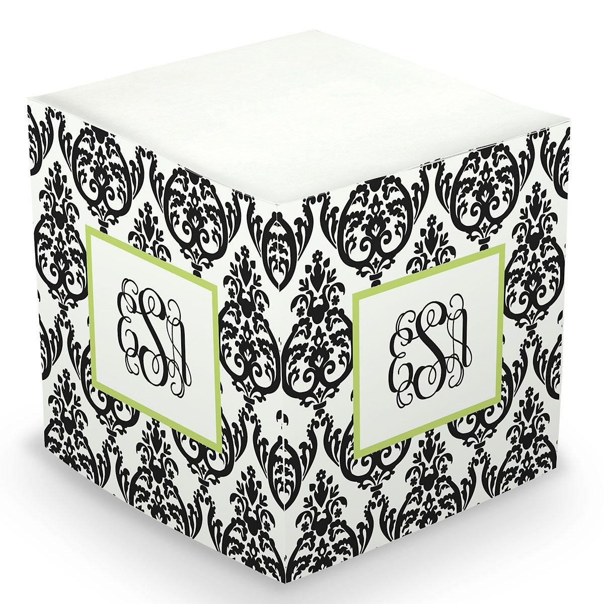 Damask Sticky Memo Cube