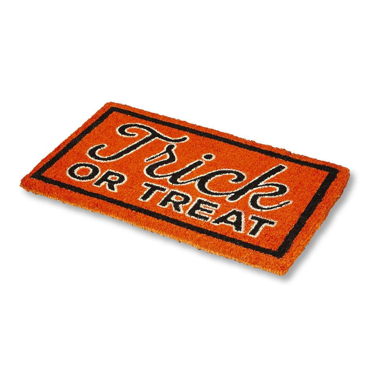 Trick or Treat Halloween Personalized Coco Doormat
