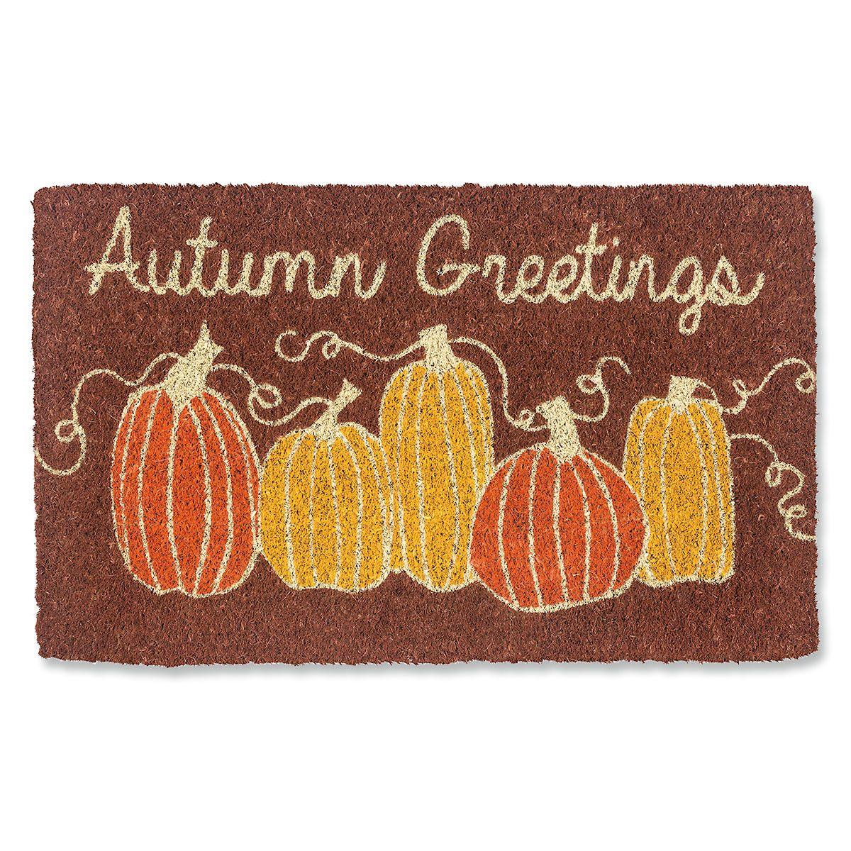 Autumn Greetings Coir Doormat