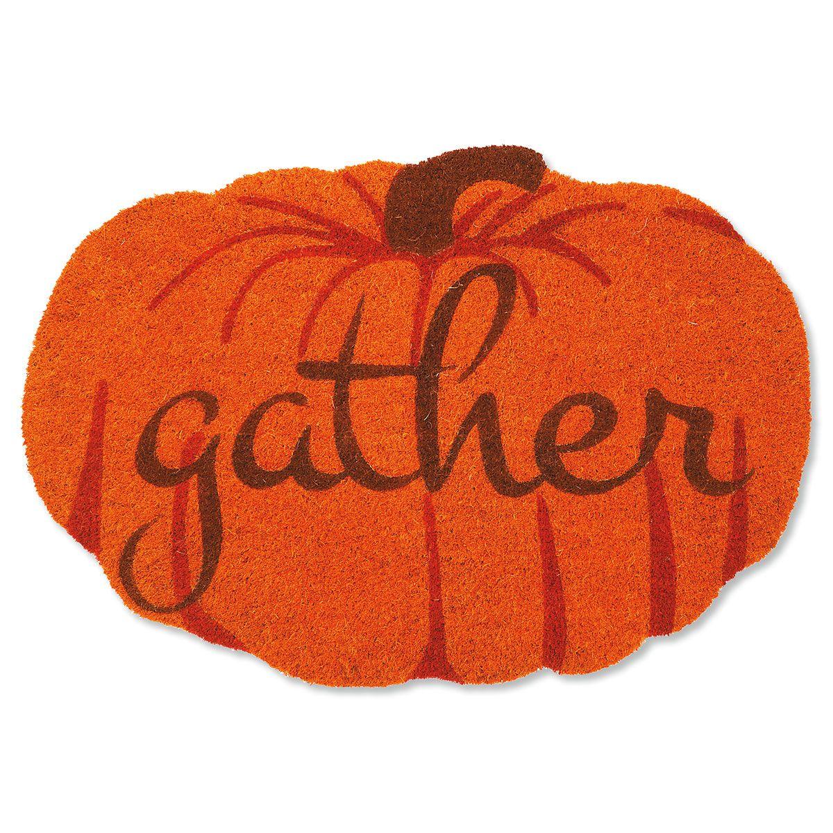 Gather Pumpkin Coir Doormat