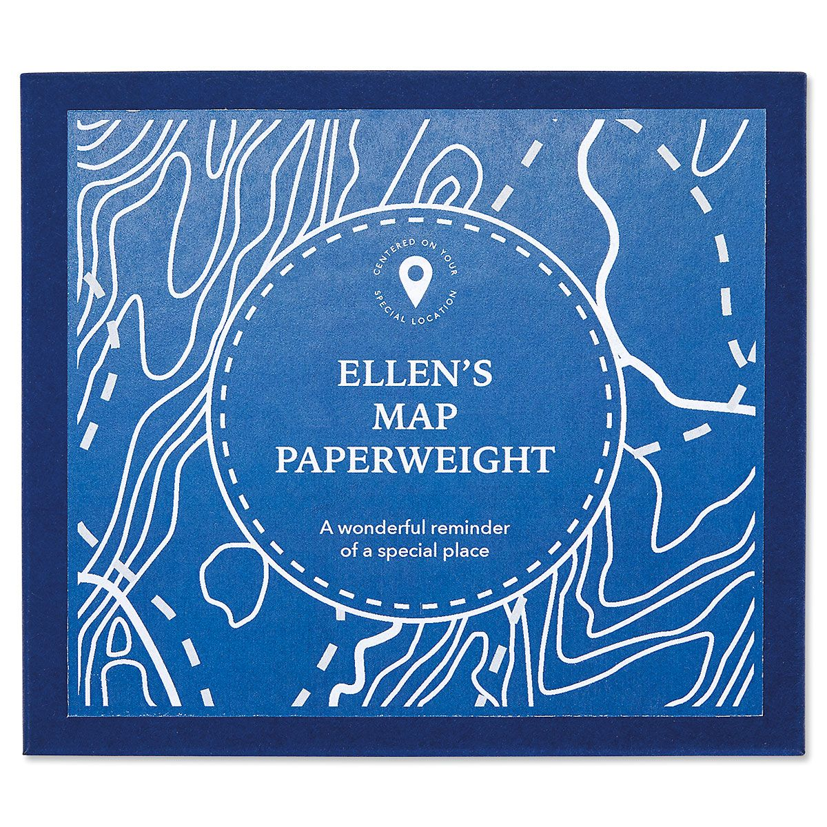 Personalized Map Paperweight