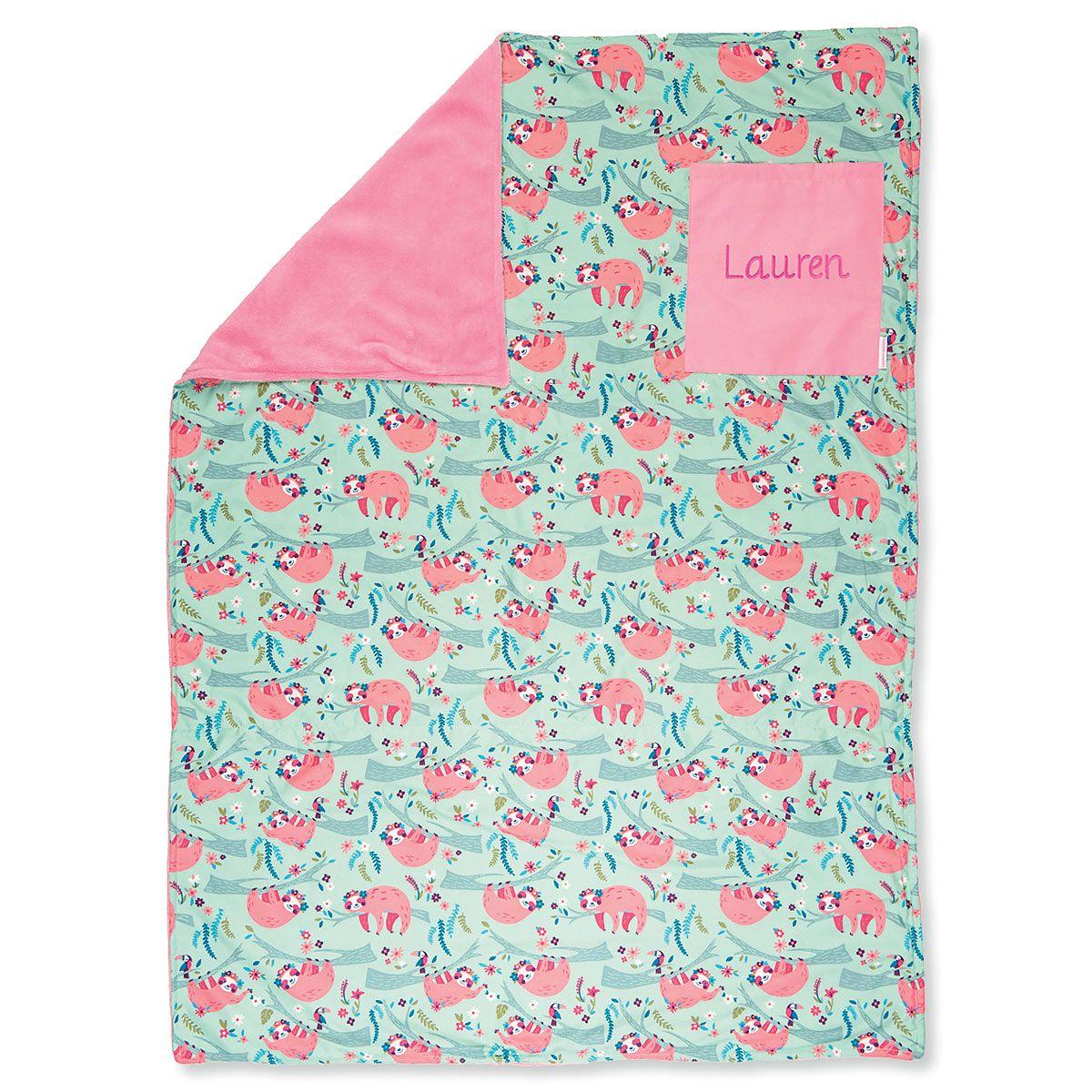 All-Over Sloth Print Blanket by Stephen Joseph®
