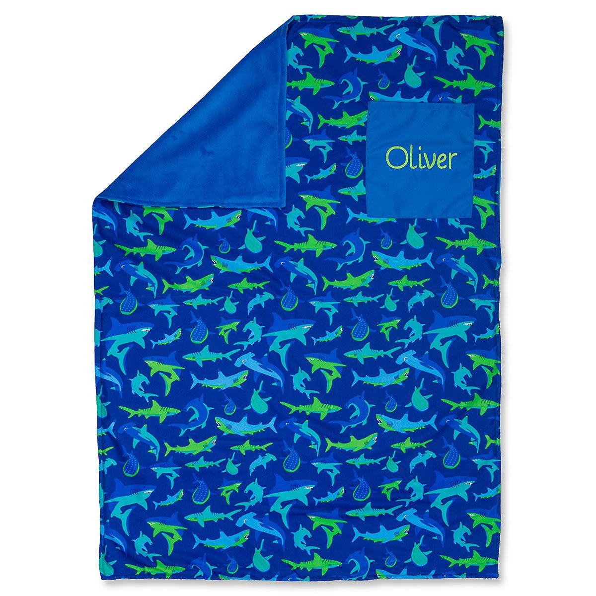 Stephen Joseph® Personalized Toddler-Size Shark Blanket