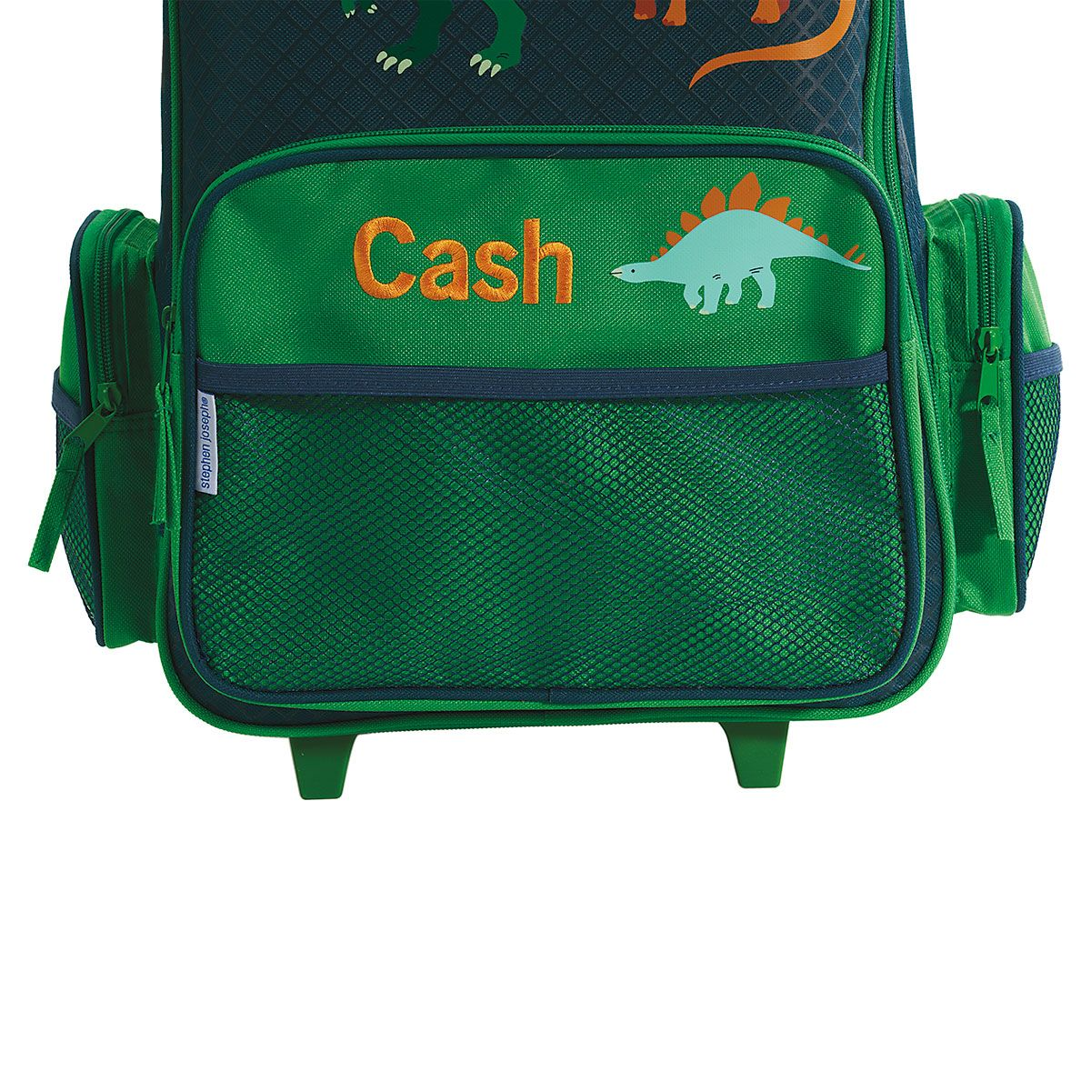 "Green Dino 18"" Rolling Luggage by Stephen Joseph®"