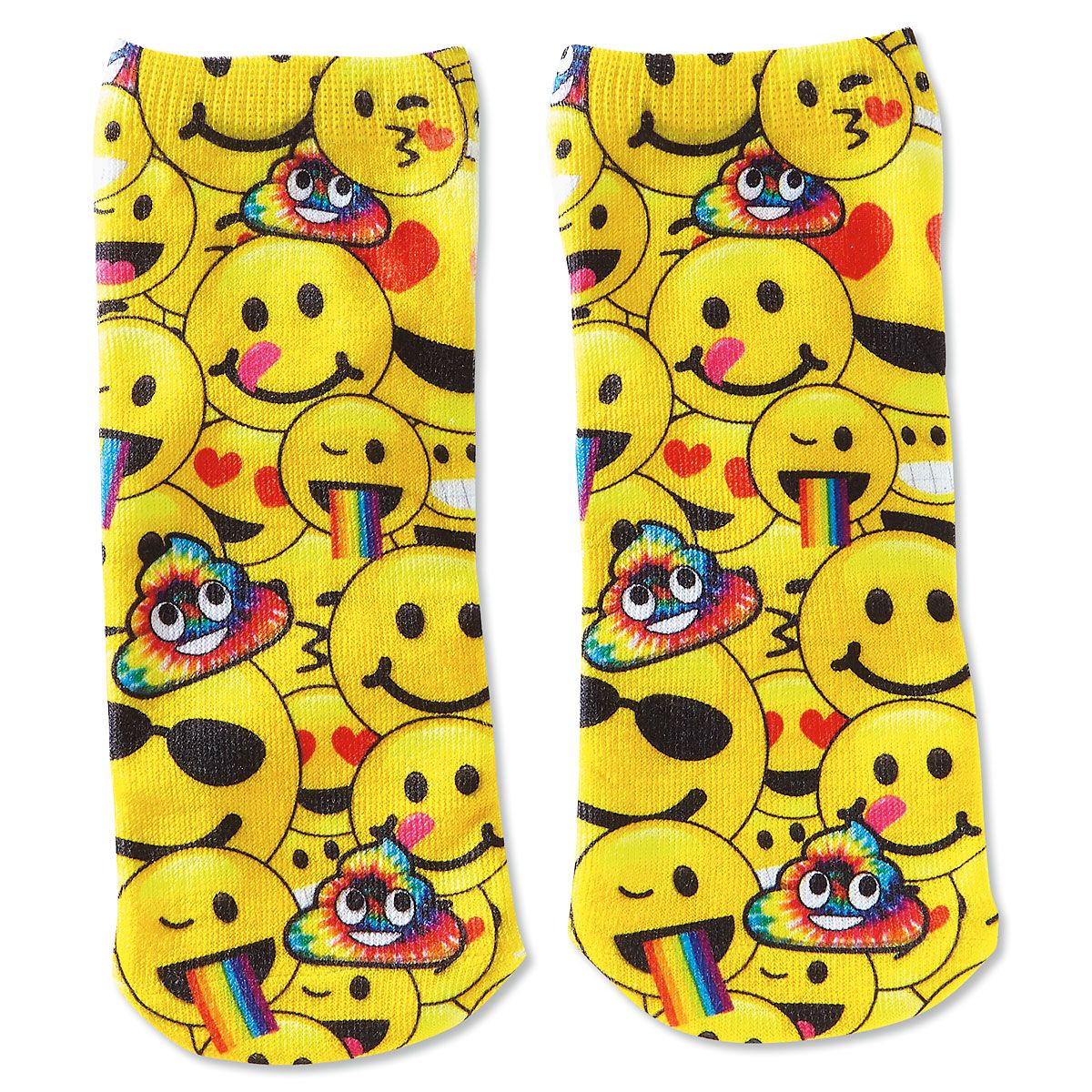 Emoji Smile Ankle Socks Pair