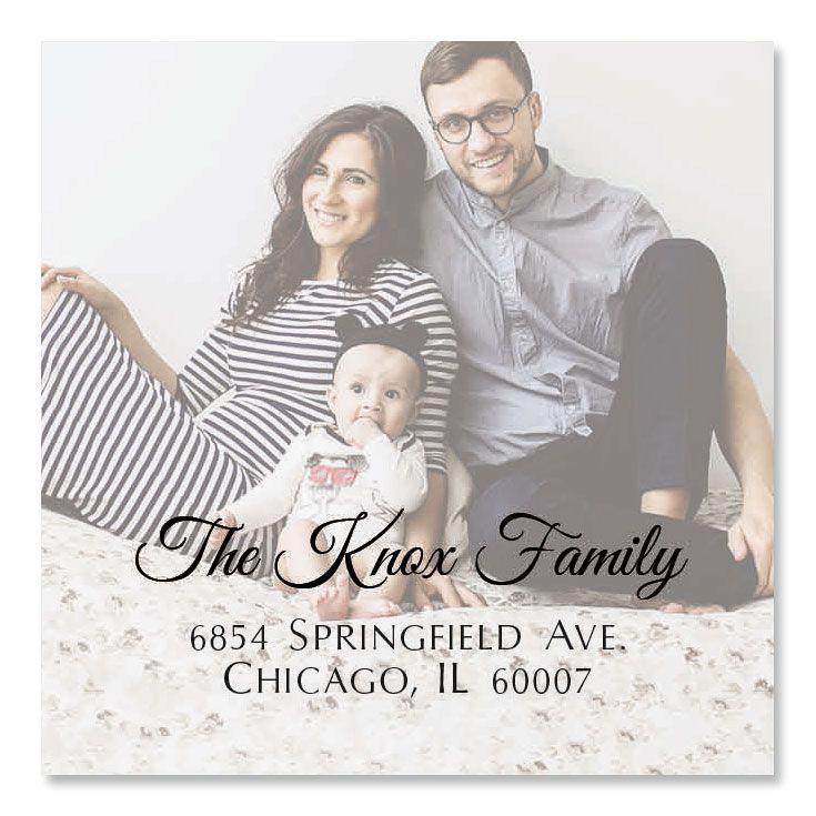 Personalized Full Photo Large Square Address Label