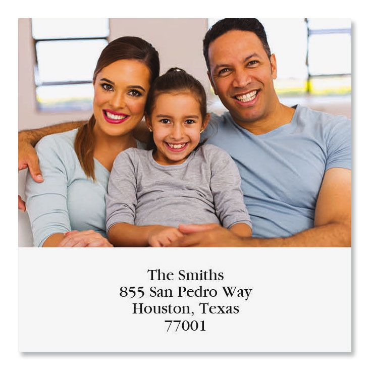 Direct Large Square Personalized Photo Address Label
