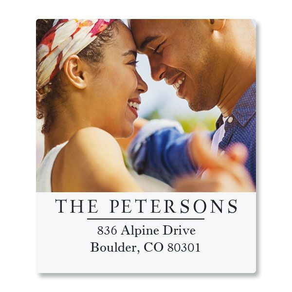 Classic Select Personalized Photo Address Label