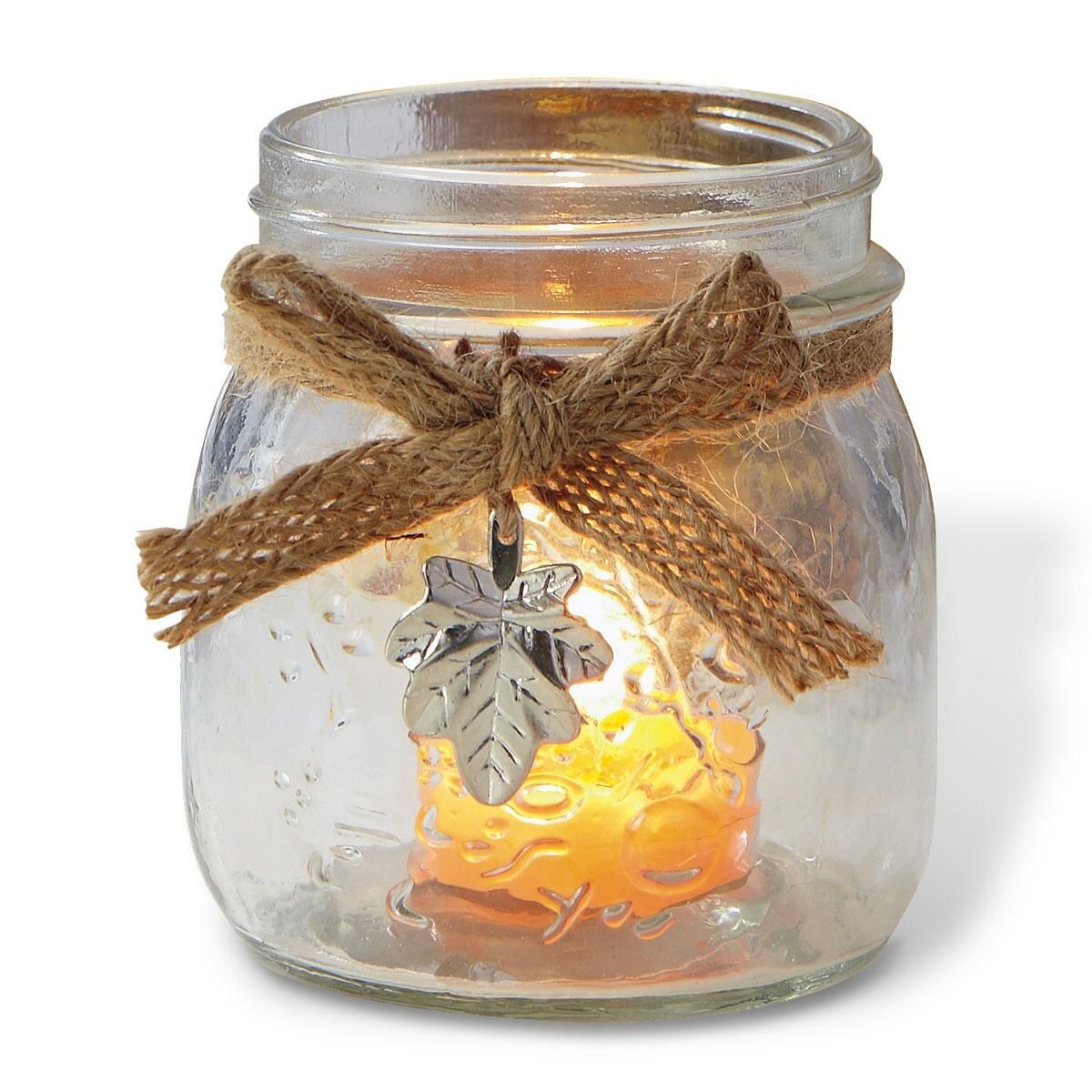 Large Mason Jar Tealight Holder