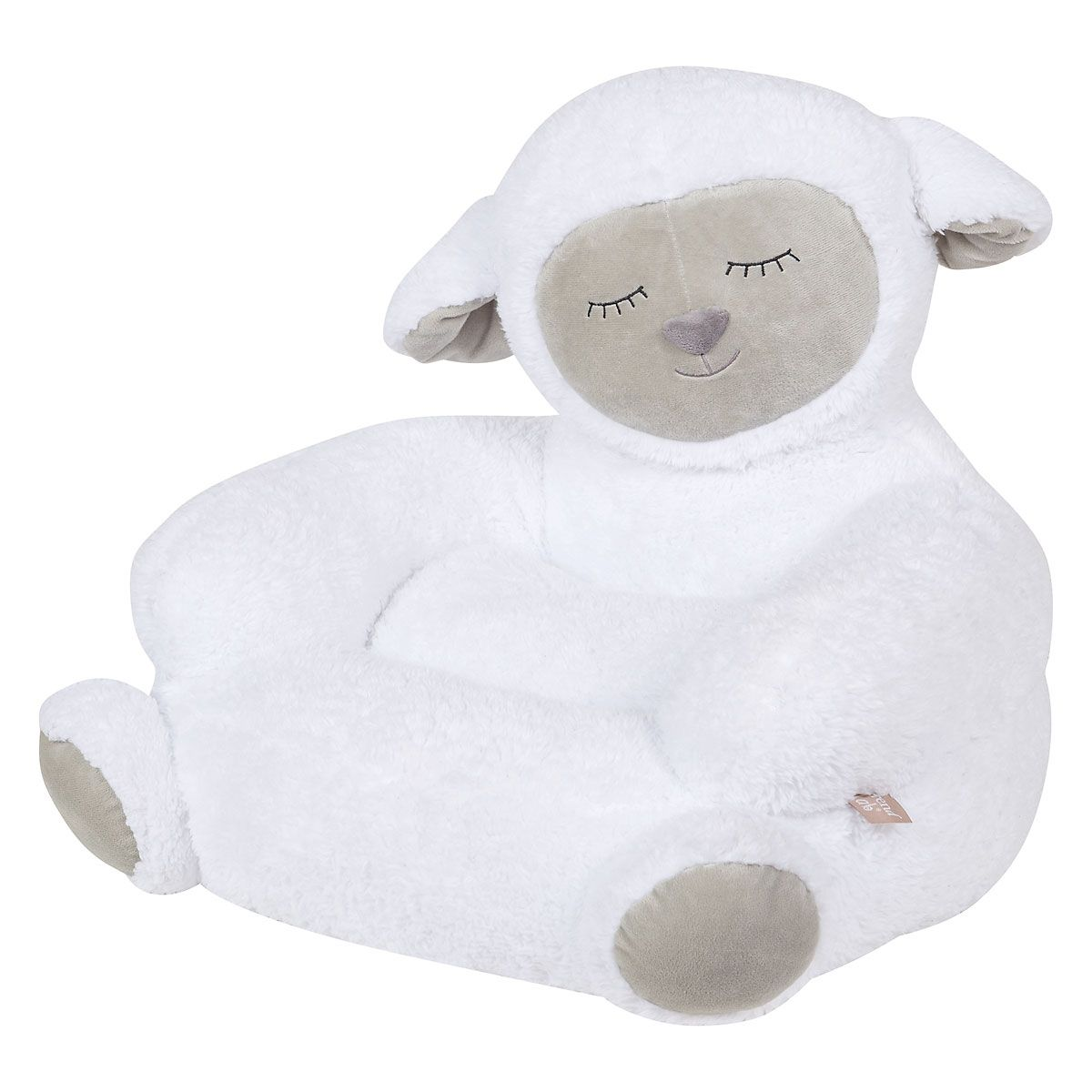 Children's Sherpa Lamb Plush Character Chair