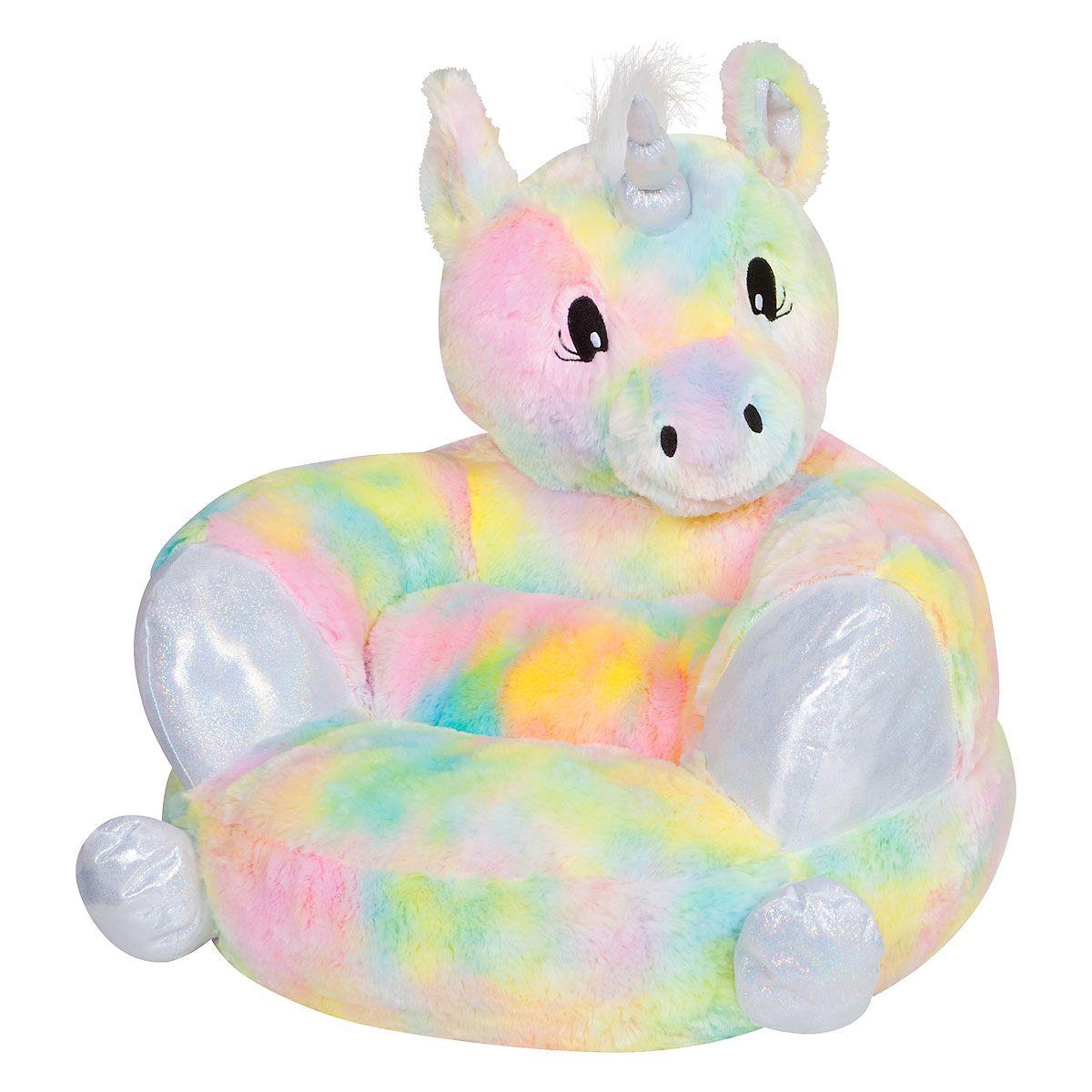 Children's Rainbow Unicorn Plush Character Chair