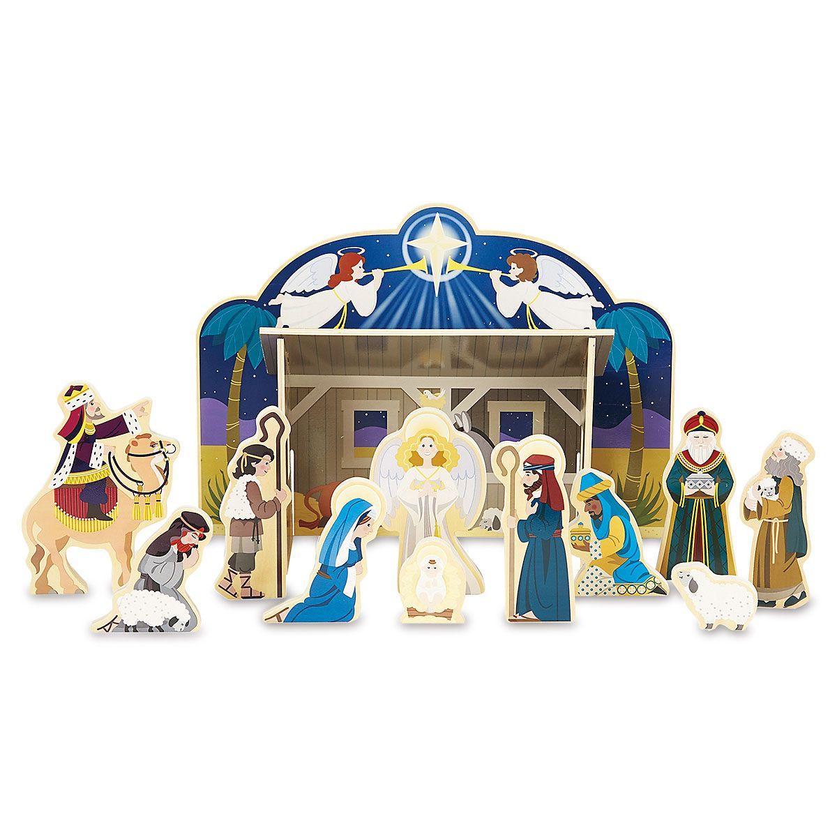 Wooden Christmas Nativity Set by Melissa & Doug®