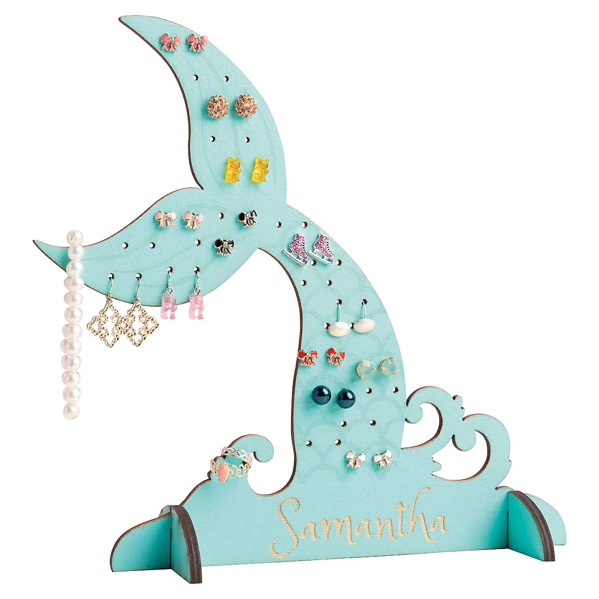 Personalized Mermaid Tail Jewelry Stand