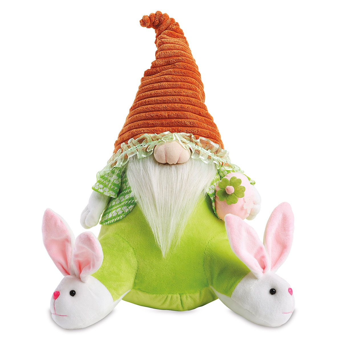 Plush Gnome with Bunny Slippers