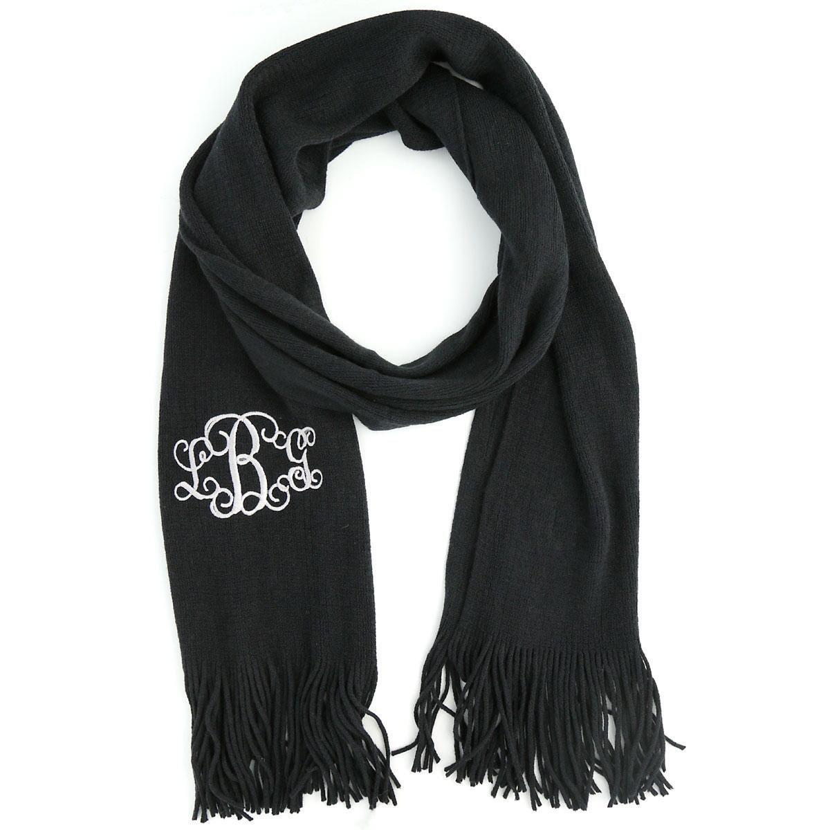 Monogram Knit Scarf - 3 Designs