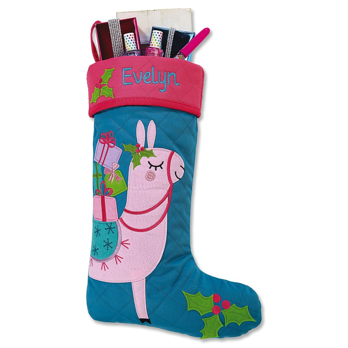 Quilted Llama Stocking by Stephen Joseph®