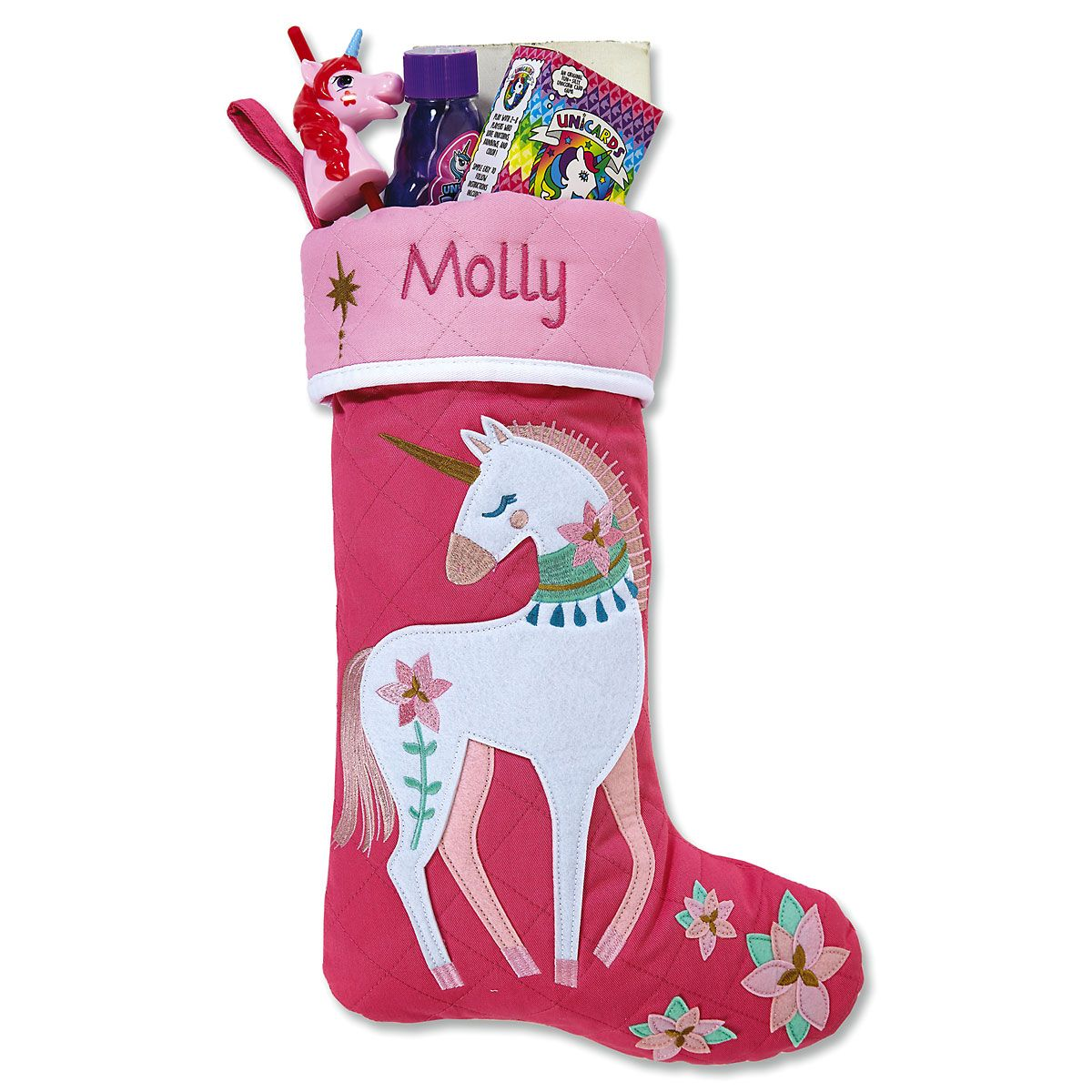 Quilted Unicorn Stocking by Stephen Joseph®