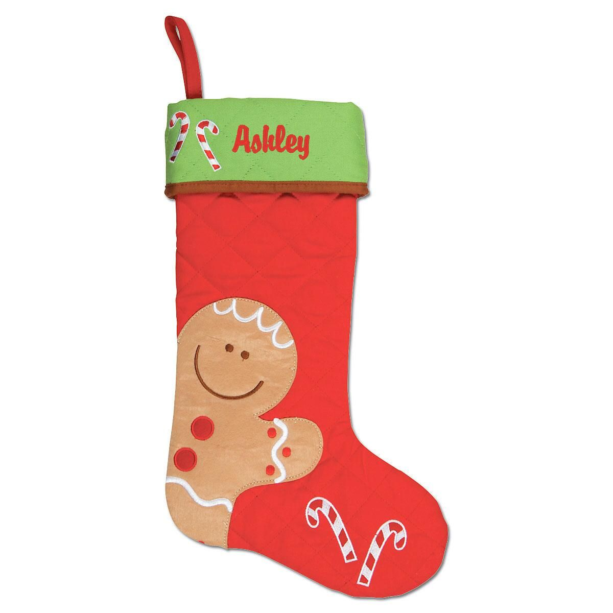 Gingerbread Personalized Christmas Stocking by Stephen Joseph®