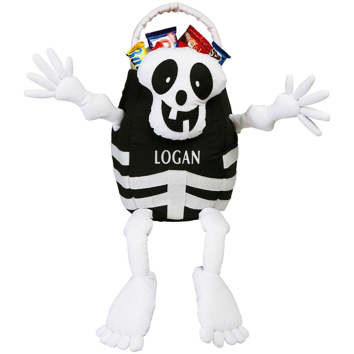 Skeleton Personalized Halloween Treat Bag