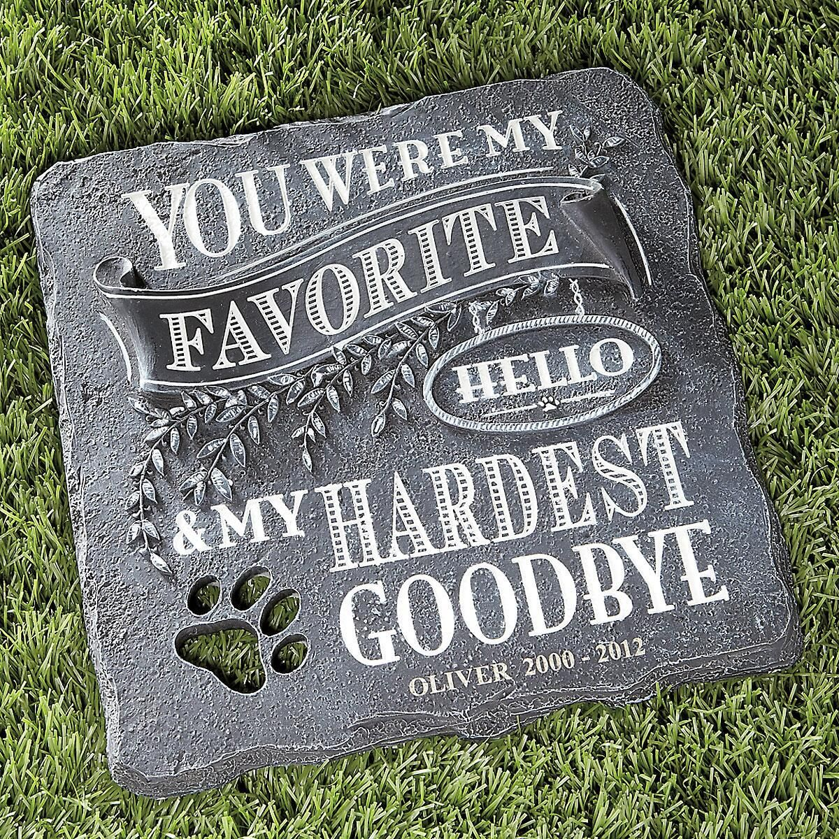 You Were My Favorite...Personalized Stepping Stone