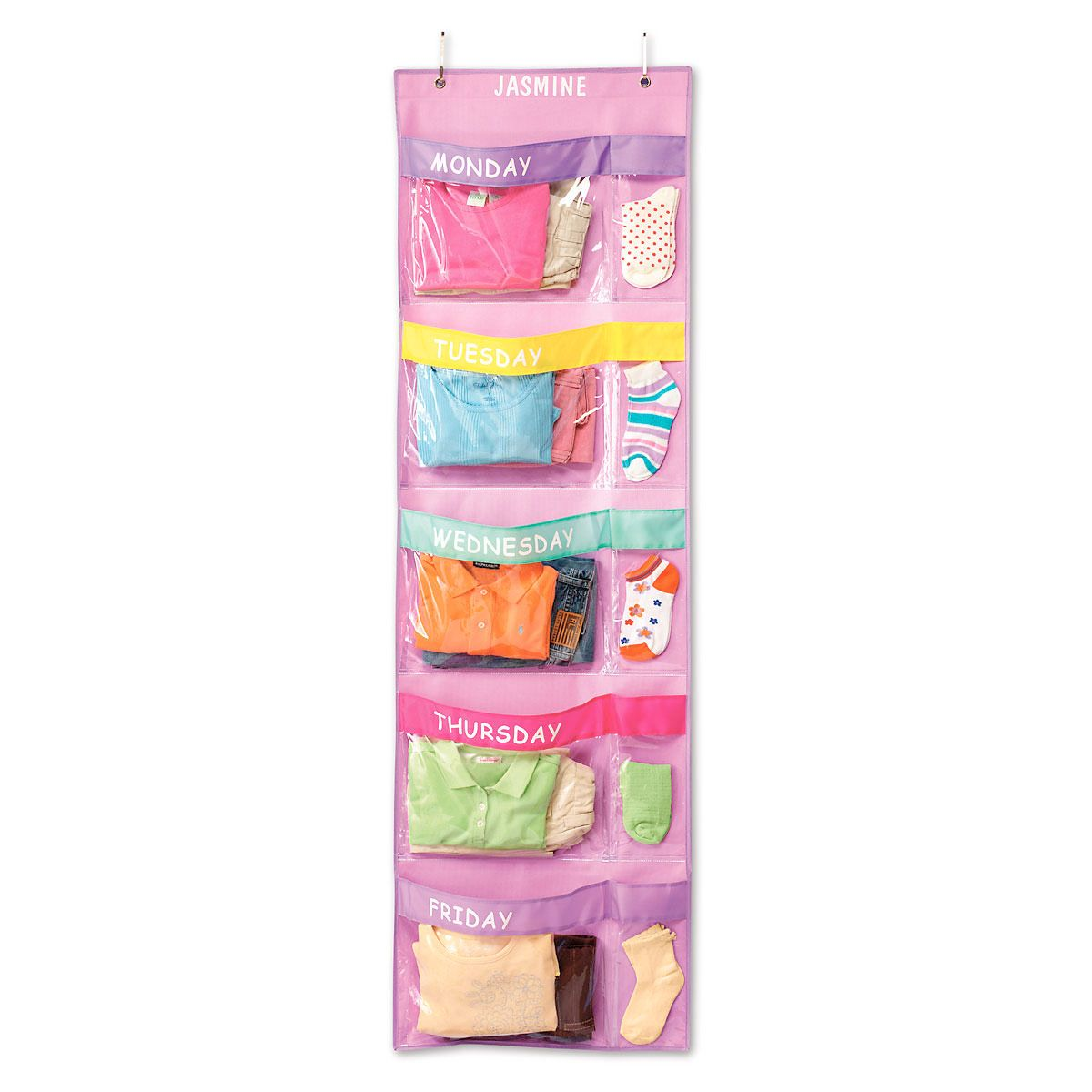 Days-Of-The-Week Hanging Organizer-Pastel
