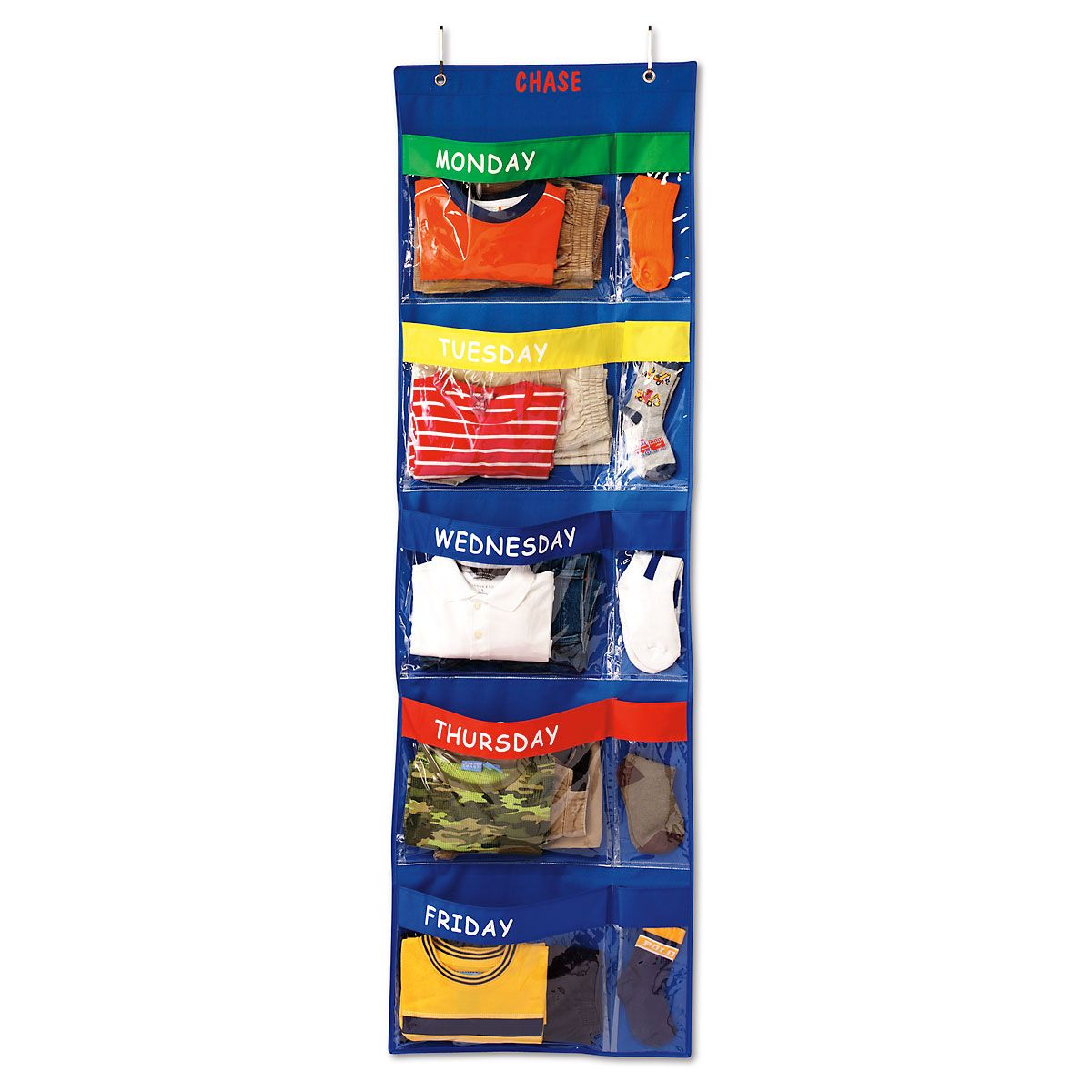 Days-Of-The-Week Hanging Organizer-Primary