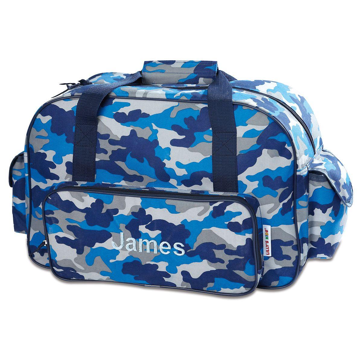 Blue Camo Duffel Bag