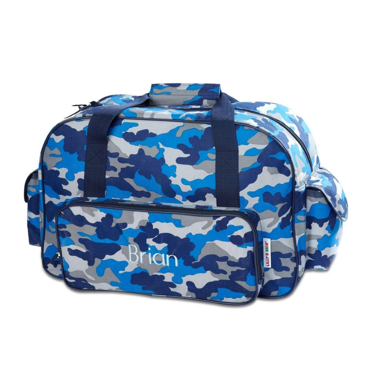 Blue Camo Small Duffel Bag