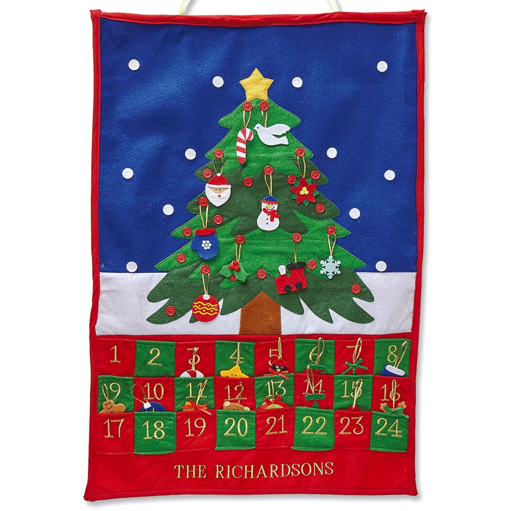Personalized Christmas Tree Countdown Calendar