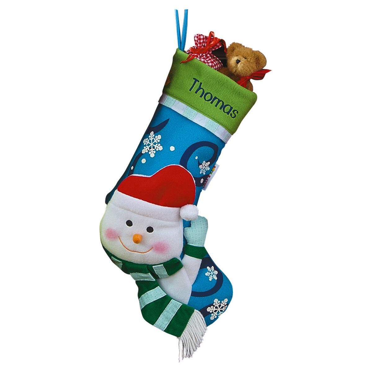 3-D Snowman Christmas Stocking | Lillian Vernon