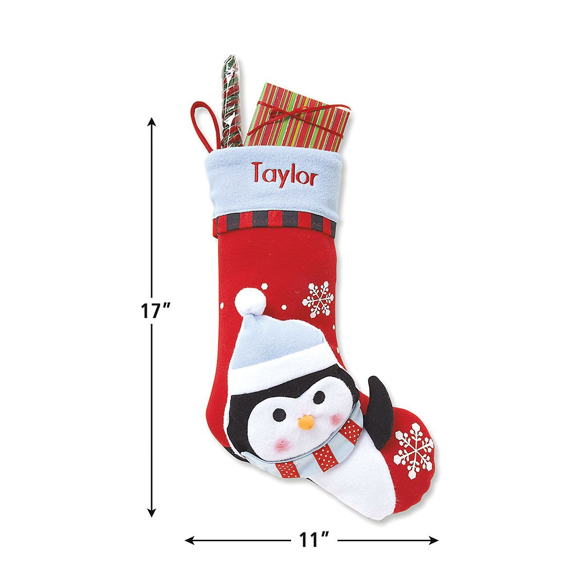 3-D Penguin Christmas Stocking
