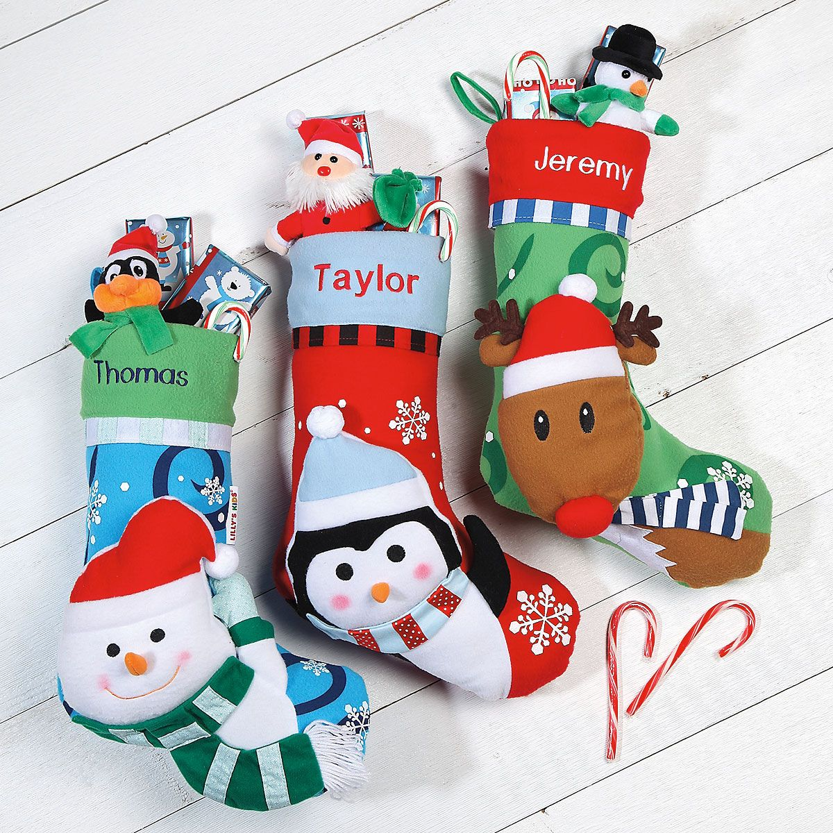 3-D Rudolph Personalized Christmas Stocking