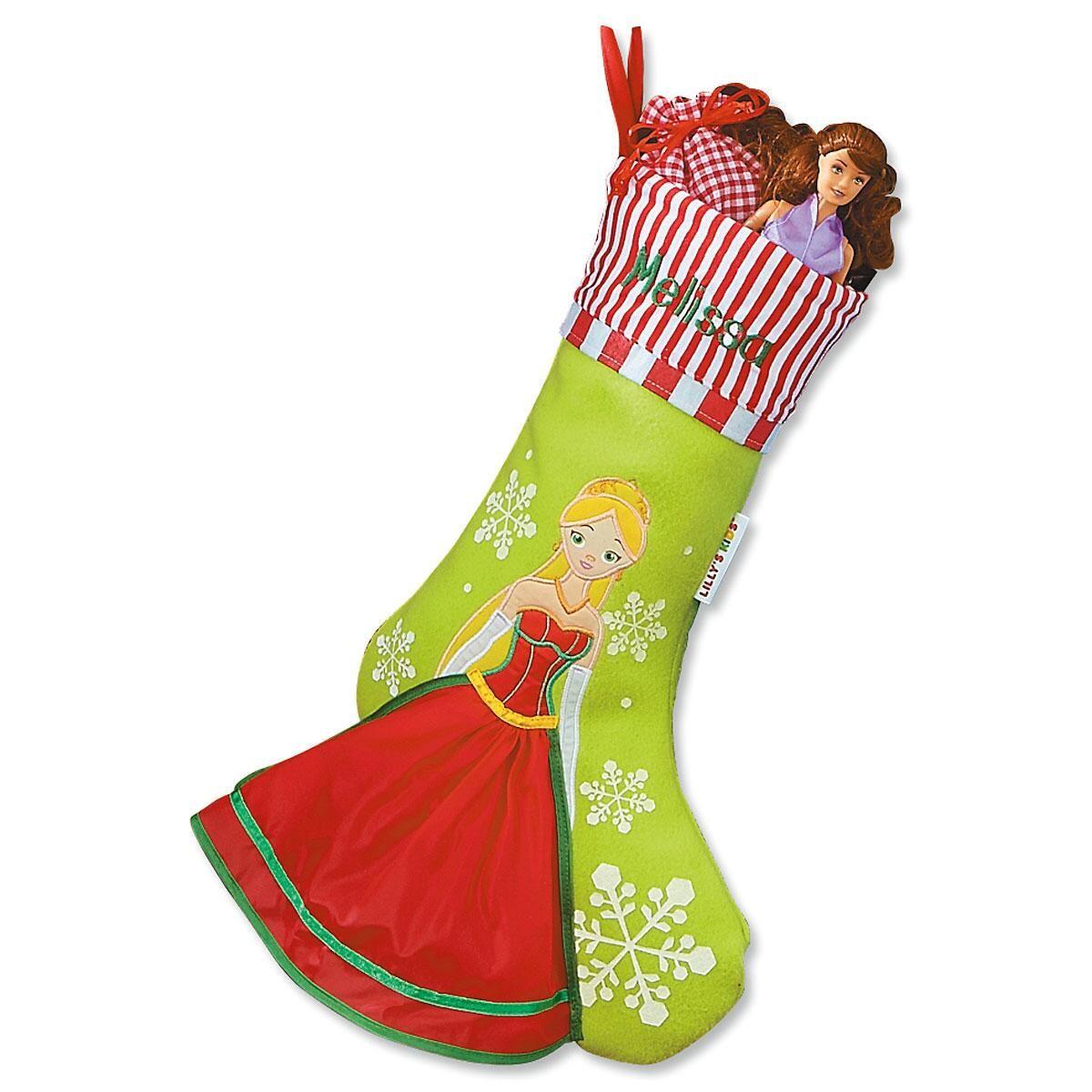 3-D Princess Christmas Stocking