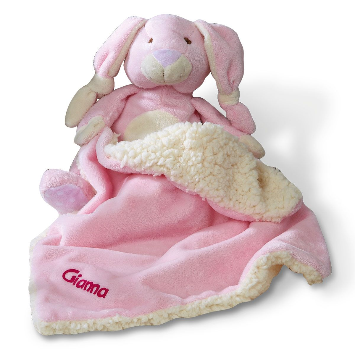 Velvety-Soft Bunny Blanket-Pink