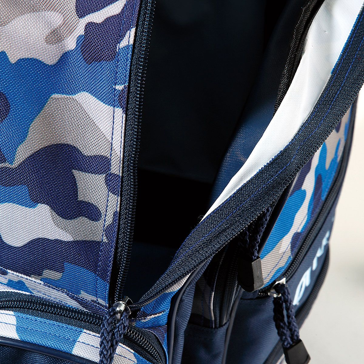 "Blue Camo 18"" Rolling Luggage"