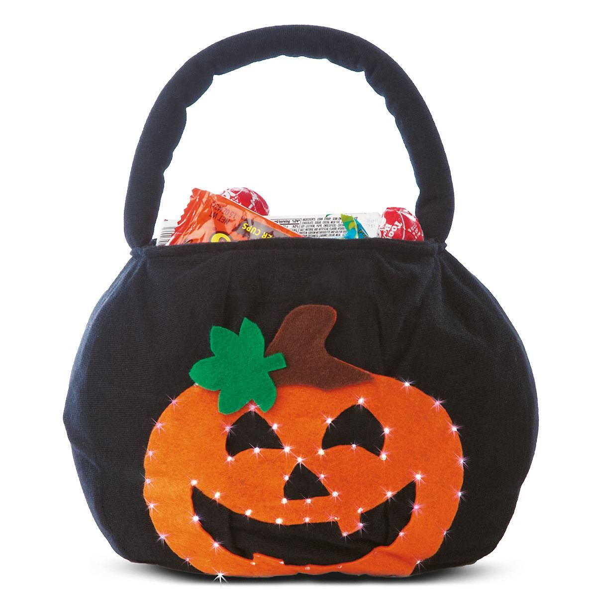 Blinking Light Up Halloween Treat Bags