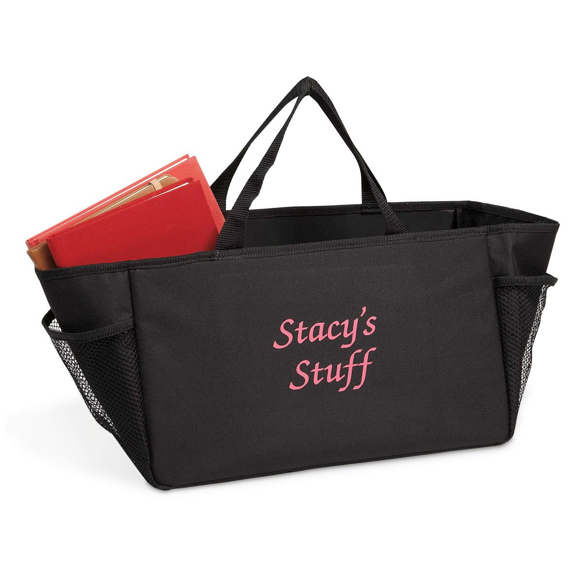 Personalized Car Console Tote - Name