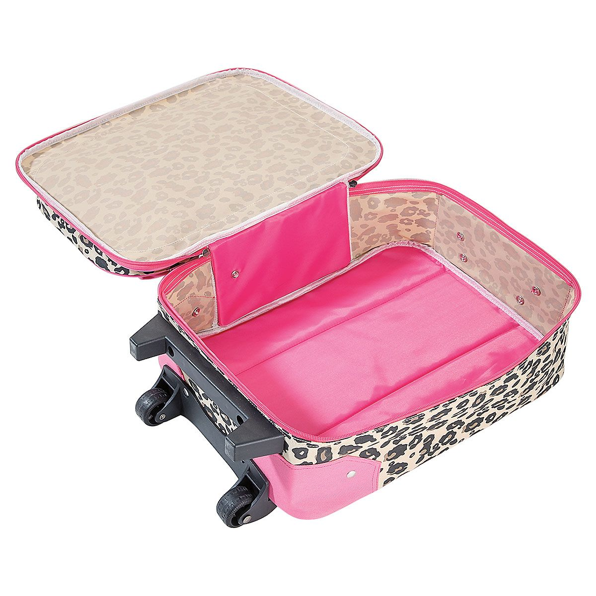 """Leopard Spots 18"""" Rolling Luggage"""
