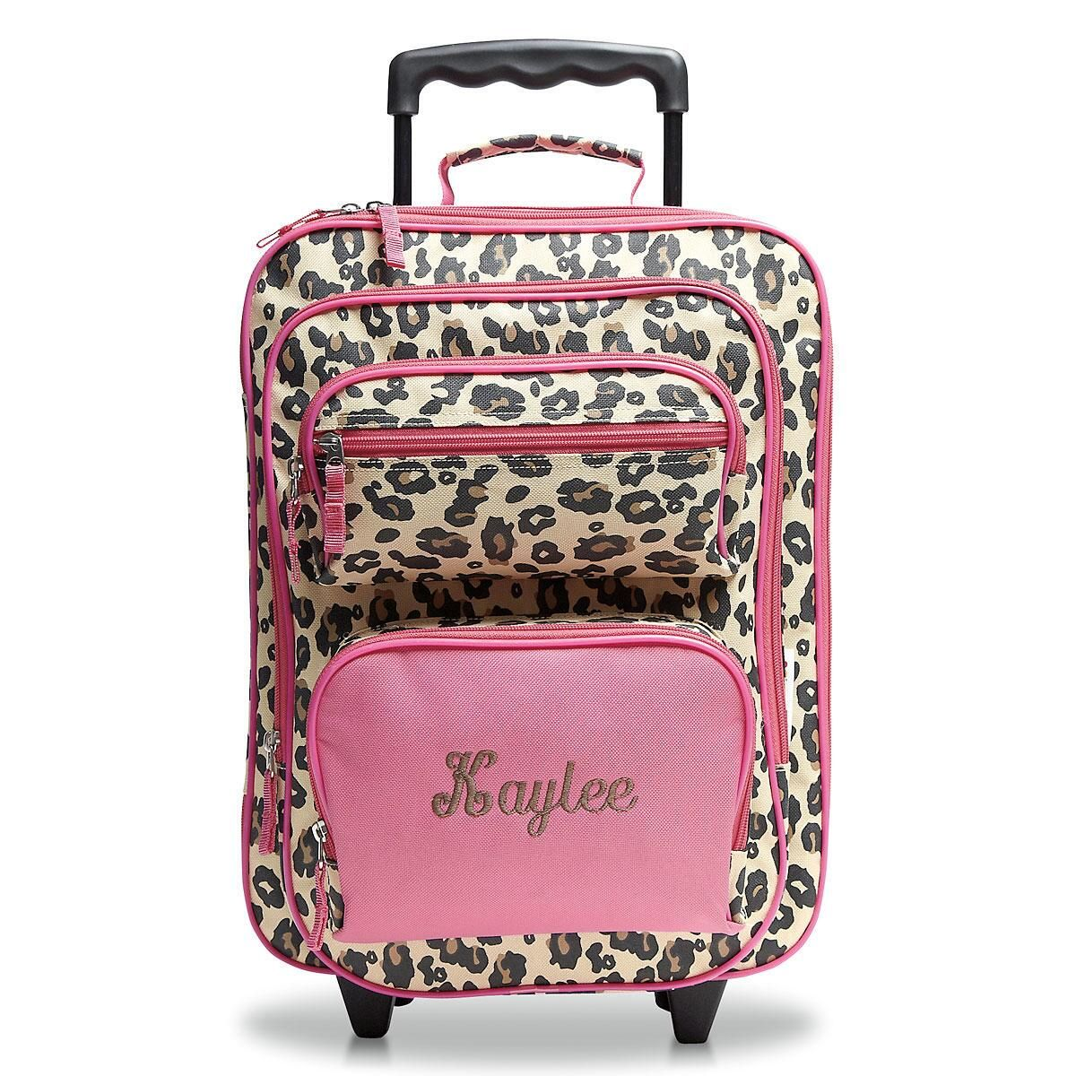 Leopard Spots Rolling Luggage