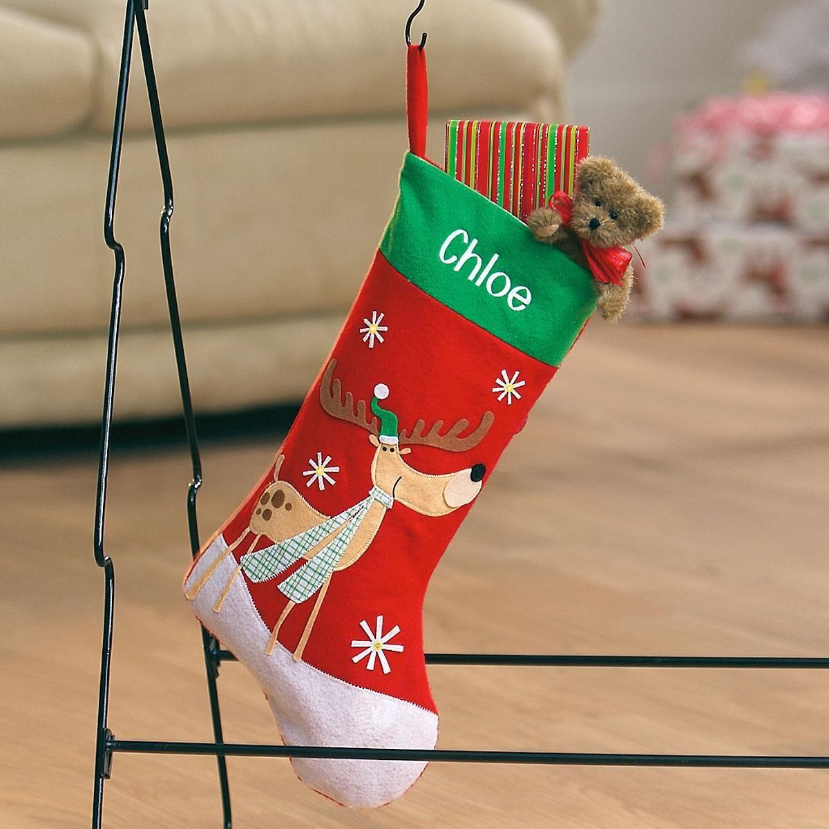 Lighted Reindeer Christmas Stockings