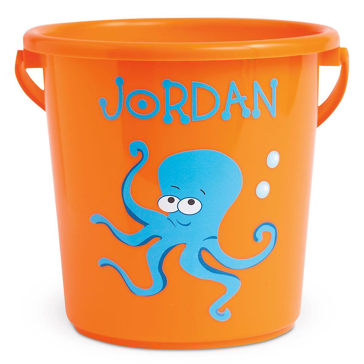 Fun-in-the-Sand Plastic Bucket-Orange-Z814520D