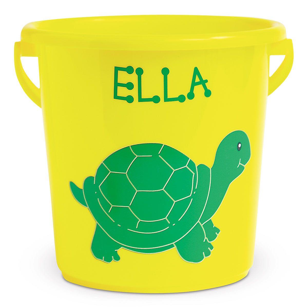 Fun-in-the-Sand Plastic Bucket-Yellow-Z814520E